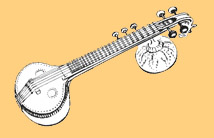 Veena line drawing